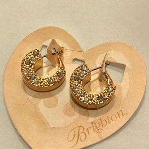 NWT Brighton Gold Earrings w Swarovski